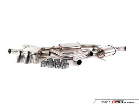 """ES#2848070 - CTSEXHCB0013 - Cat-Back Exhaust System - Dual Exit Single Tips  - 2.5"""" stainless steel with dual 3"""" polished stainless tips - CTS - Audi"""