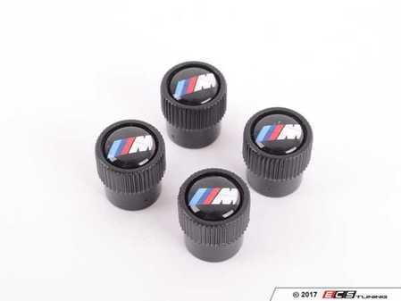 ES#3251083 - 36122456427 - M Valve stem caps  - A set of black caps featuring the ///M logo - Genuine BMW - BMW