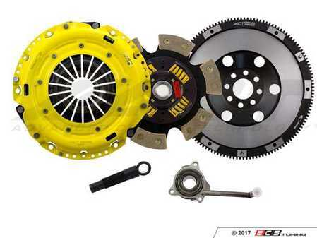 ES#3438064 - VW8-HDG6 - Performance Race Clutch Kit  - Handles up to 505 lb-ft of torque and includes single mass flywheel (15.7 lbs) - ACT - Volkswagen