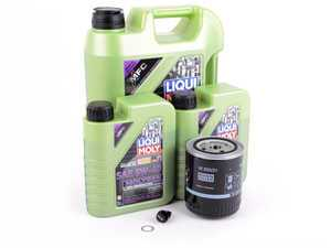 ES#3439022 - molygenKT1 - Liqui Moly MolyGen - Premium Oil Service Kit - With ECS Magnetic Drain Plug - Includes Hengst oil filter and Liqui Moly 5w-40 oil with MolyGen technology - Assembled By ECS - Audi