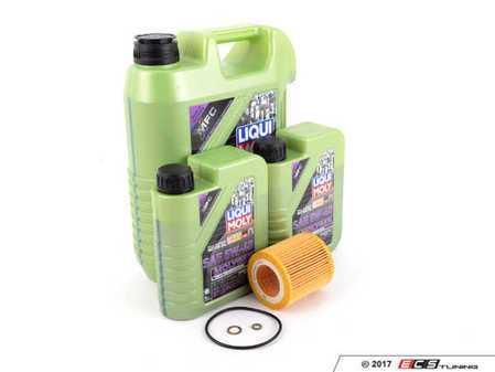 ES#3432280 - 11427566327KT8 - Liqui Moly MolyGen Oil Change Kit / Inspection I - Includes seven quarts of Liqui Moly MolyGen 5w-40 synthetic engine oil, Hengst oil filter and new drain plug - Assembled By ECS - BMW