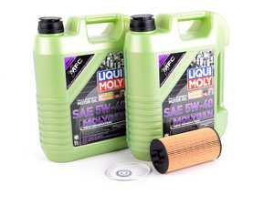 ES#3439023 - molygenKT2 - Liqui Moly MolyGen - Premium Oil Service Kit - Includes Hengst oil filter and Liqui Moly 5w-40 oil with MolyGen technology - Assembled By ECS - Audi Volkswagen