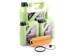 ES#3439034 - molygenKT7 - Liqui Moly MolyGen - Premium Oil Service Kit - With ECS Magnetic Drain Plug - Includes Hengst oil filter and Liqui Moly 5w-40 oil with MolyGen technology - Assembled By ECS - Audi