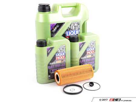 ES#3439034 - molygenKT7 -  Premium Oil Service Kit - With ECS Magnetic Drain Plug - Includes Mann oil filter and Liqui Moly 5w-40 oil with MolyGen technology - Assembled By ECS - Audi