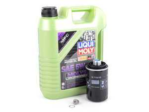 ES#3439016 - 20TPRMOILMGKT1 -  Liqui Moly MolyGen - Oil Service Kit  - Includes MANN filter, drain plug, and Liqui Moly oil with MolyGen technology - Assembled By ECS - Audi Volkswagen