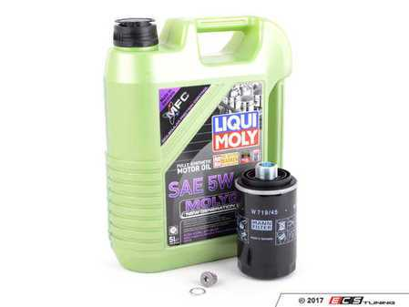 ES#3439016 - 20TPRMOILMGKT1 -  Liqui Moly MolyGen - Oil Service Kit  - Includes Hengst filter, drain plug, and Liqui Moly oil with MolyGen technology - Assembled By ECS - Audi Volkswagen