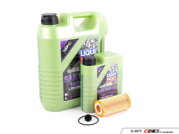 ES#3439011 - 06L115562MGKT -  Oil Service Kit - Includes Mann oil filter and Liqui Moly 5w-40 oil with MolyGen technology - Assembled By ECS - Audi Volkswagen