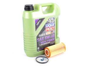 ES#3439017 - 20TPRMOIL1KT1 - Liqui Moly MolyGen - Oil Service Kit - Premium  - Includes Mann filter, drain plug, and Liqui Moly oil with MolyGen technology - Assembled By ECS - Audi Volkswagen