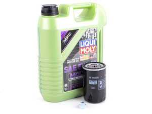 ES#3439018 - PLSOILKT5MGKT - Liqui Moly MolyGen - Oil Service Kit - Includes standard Hengst oil filter and Liqui Moly 5w-40 oil with MolyGen technology - Assembled By ECS - Audi Volkswagen