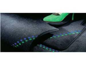 ES#3448596 - 5143840 - Alpina Floor Mat Set - Anthracite - Front & rear floor mats with silver Alpina logo - Alpina - BMW