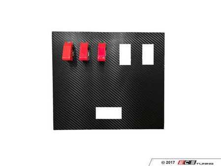 ES#3448731 - E36-CC-4W-E-3TS - E36 Center Console Panel - Includes 4 window switch cutouts, ES cutout, and 3 toggle switches - MKAH Motorsports - BMW