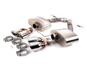 "ES#3063274 - TENF104752P - Axle-Back Sport Mufflers - Let your twin turbo V8 sing! 304 stainless rear muffler set with quad 4"" tips - Turner Motorsport - BMW"