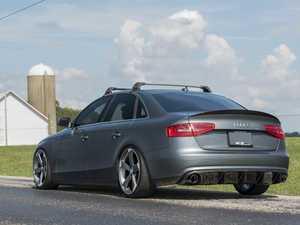ES#3195000 - 022852ECS01 - Carbon Fiber Rear Diffuser - Hand-laid carbon fiber to upgrade your exterior styling - ECS - Audi