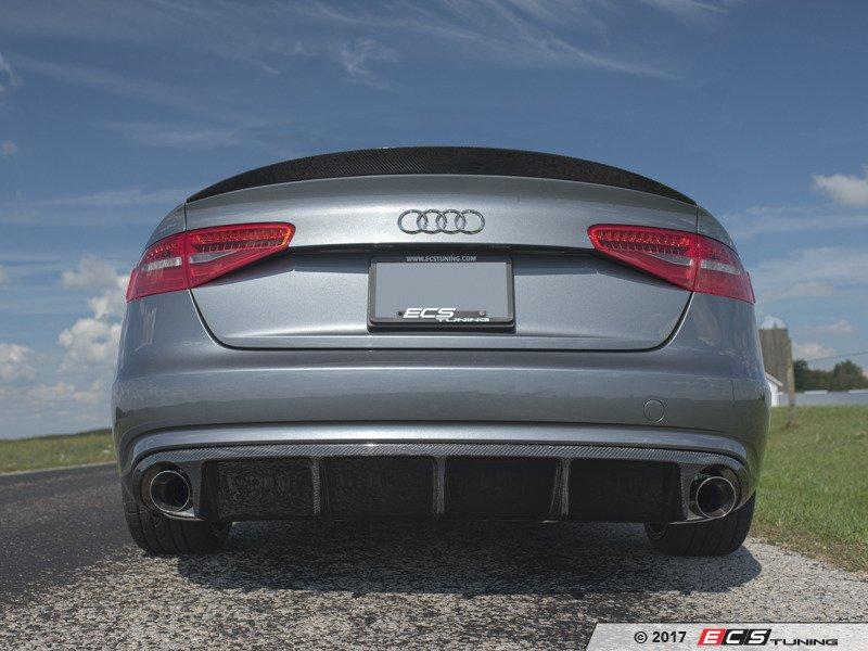 ECS News - Audi B8 A4 ECS Tuning Carbon Fiber Rear Diffuser