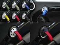 ES#2839615 - DH24BLKRED - RS Style Door Pulls - Black / Red - Add some racing styles door handle pulls - Rennline - MINI