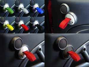 ES#2839632 - DH25BLKWHT - RS Style Door Pulls - Black / White - Add some racing styles door handle pulls - Rennline - MINI