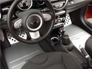 ES#2840589 - TM20BLACK - Track Mat MINI Drivers Side - Black - Main bottom section of the floor - Rennline - MINI
