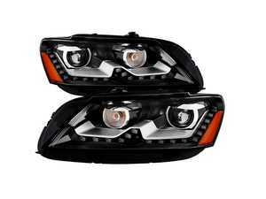 ES#3450092 - PR0JHVP12NABK - Projector Headlight Set - OE Style - Features LED DRLs and amber US spec OE style reflectors - Spyder - Volkswagen