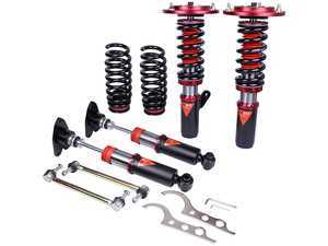 ES#3438330 - MMX3630 - MonoMAX Coilover Kit - Adjustable Dampening - Monotube coilovers that give full length adjustment, 40-level Dampening, and front camber plates! - GODSPEED - BMW