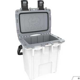 ES#3450407 - PEL20Q1WHTGRY - 20 Quart Pelican Elite Cooler White/Gray - Tailgating, Sports event. Weekends full of fun. This cooler is built to keep your food and beverage cold for days. - Pelican - Audi BMW Volkswagen Mercedes Benz MINI Porsche
