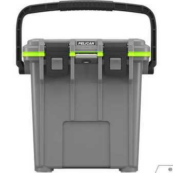 ES#3450256 - PEL20Q1DKGRYGRN - Pelican Elite Cooler, 20QT - Tailgating, Sports event. Weekends full of fun. This cooler is built to keep your food and beverage