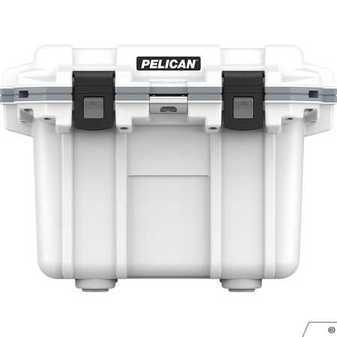 ES#3450776 - PEL30Q1WHTGRY - Pelican Elite Cooler, 30QT, White/Gray - Going away for the weekend and longer. This is the cooler for you. - Pelican - Audi BMW Volkswagen Mercedes Benz MINI Porsche