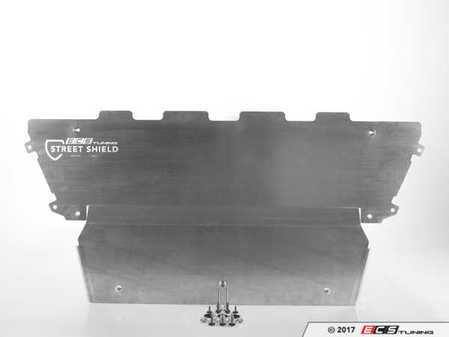 ES#3411957 - 019207ecs01KT - Audi B9 A4/S4/A5 Engine Street Shield Aluminum Skid Plate - Protect your vehicle's plastic oil pan with this 4mm thick aluminum skid plate - ECS - Audi