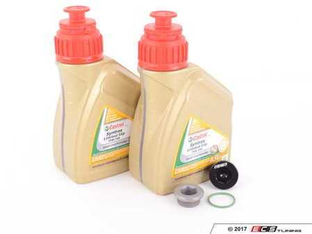 ES#3449408 - f8xdiffKT2 - Differential Service Kit - All you need in one package for scheduled differential maintenance! With Castrol SAF-XJ Differential Fluid and ECS Magnetic Differential Oil Drain Plug! - Assembled By ECS - BMW