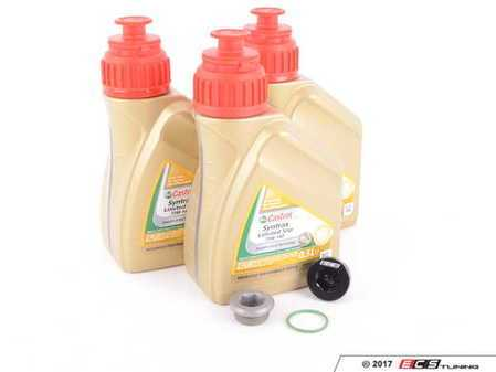 ES#3449410 - 83222282583KT4 - Differential Service Kit  - All you need in one package for scheduled differential maintenance! With Castrol SAF-XJ Differential Fluid and ECS Magnetic Differential Oil Drain Plug! - Assembled By ECS - BMW