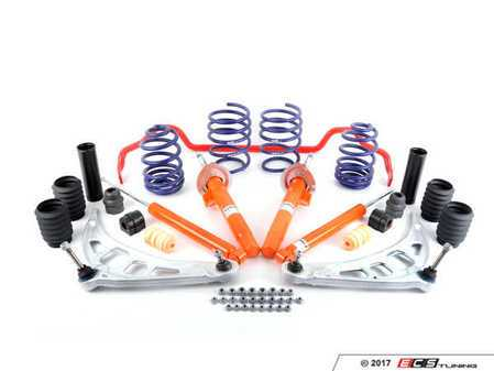 ES#2960701 - 33500429577 - E46 ZHP Suspension Upgrade Kit - Give your suspension a refreshing upgrade with this ZHP kit. Featuring Koni STR.T shocks and struts - Assembled By ECS - BMW