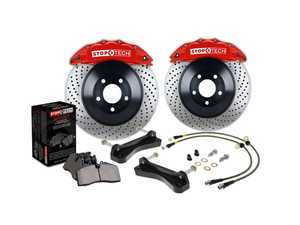 ES#3117082 - 82.893.5N00.72 - StopTech Big Brake Kit (328x25) - Featuring drilled, 1-Piece rotors with red, 4-piston calipers - StopTech - Audi Volkswagen