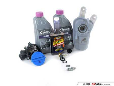 ES#2763742 - 079121115AAKT2 - Cooling System Refresh Kit - Level 2 - Replace your thermostat, temp sensor, and expansion tank after performing a proper coolant system flush! - Assembled By ECS - Audi